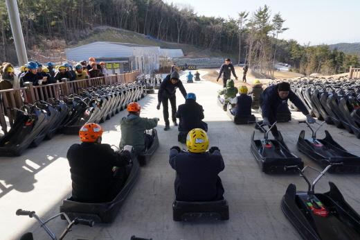 루지 체험 모습. /사진제공=한국관광공사