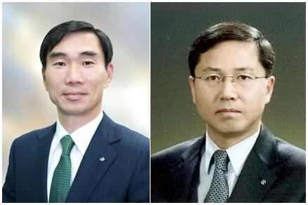 (왼쪽부터)김형진 신한금융투자 사장, 임영진 신한카드 사장/사진=신한금융지주