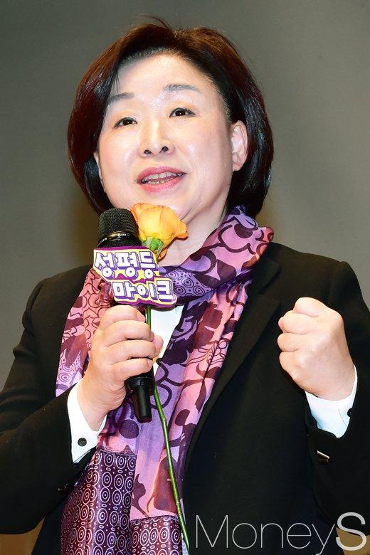 ▲한국여성단체연합 주최 '제33회 한국여성대회 기념식'에 참석한 정의당 심상정 대표/사진=임한별 기자