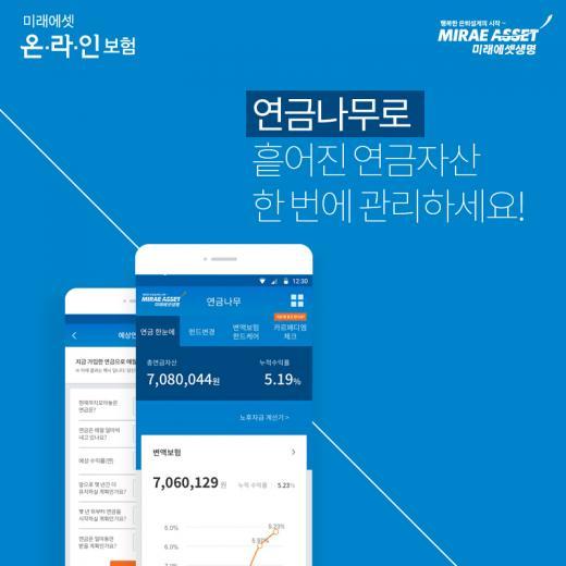미래에셋생명, 연금자산 효과적 관리 가능한 '연금나무' 앱 출시