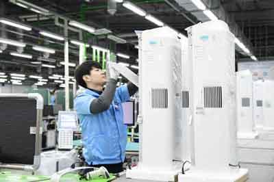 삼성광주사업장, 공기청정기 생산량 지난해 대비 2배 증가