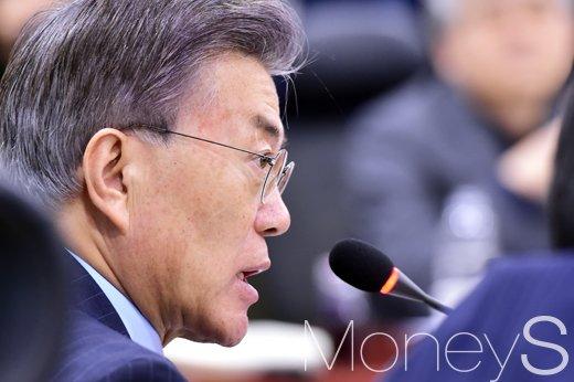 문재인 먹거리. 사진은 문재인 더불어민주당 후보. /사진=임한별 기자