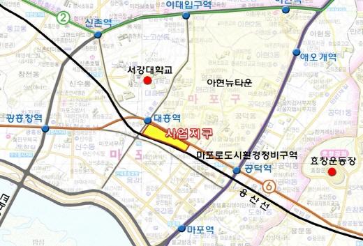 서울 마포구 대흥지구 위치도. /사진=서울시