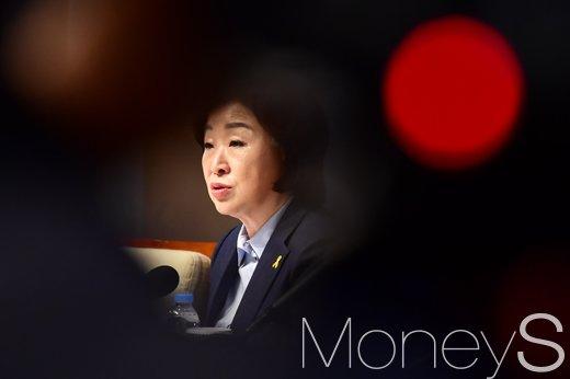 """[머니S포토] 심상정 강한 포부, """"승자독식-성장만능주의 넘어서겠다"""""""