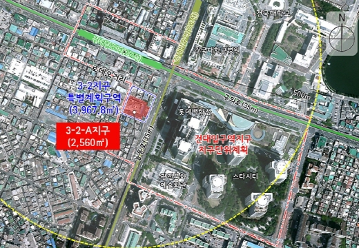 건대입구역지구 지구단위계획 위치도. /사진=서울시