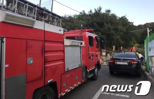 서울 관악구 삼성산에서 4일 오후 화재가 발생했다. /사진=뉴스1