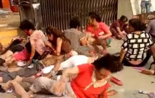 중국 폭발. 15일(현지시간) 중국 장쑤성 쉬저우시 한 유치원에서 폭발 사건이 발생했다. 중국 SNS에 올라온 사고현장 사진. /사진=바이두