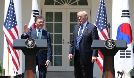 청와대는 문재인 대통령과 도널드 트럼프 미 대통령이 FTA 재협상을 합의한 바 없다고 발표했다. /사진=뉴시스 DB