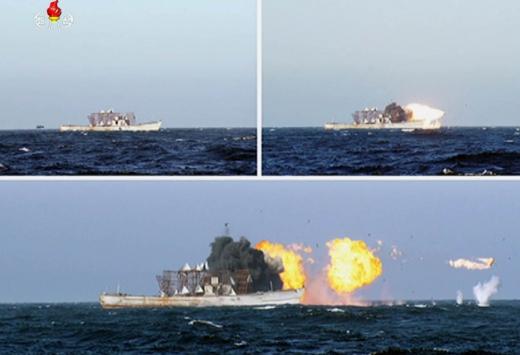 북한 중대 발표. 사진은 지난달 9일 북한이 신형 지대함 순항미사일 시험 발사를 하는 모습. /사진=북한 조선중앙TV 캡처