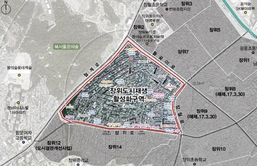 장위 도시재생활성화구역 위치도. /자료=서울시