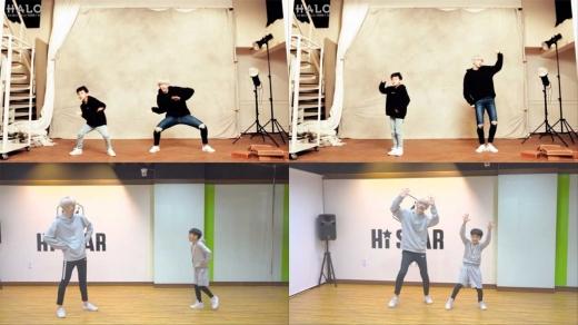 헤일로 희천, 꼬마 댄서 민형군과 '여기여기' 댄스 … 누나들 '심쿵'