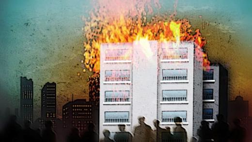 아파트 화재/삽화=임종철 디자이너