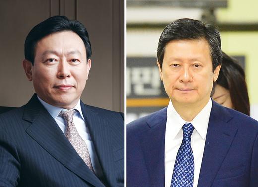 (왼쪽부터)신동빈 롯데 회장, 신동주 전 일본롯데홀딩스 부회장. /사진=뉴스1 이승배 기자
