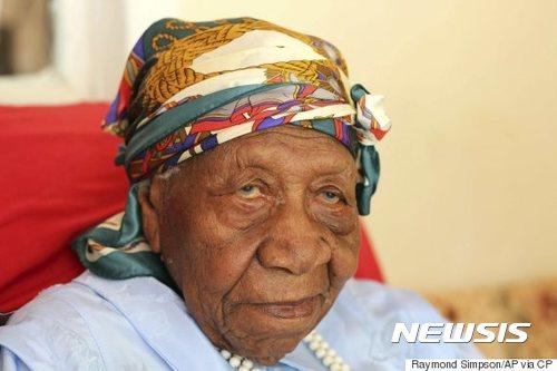 세계 최고령자인 자메이카의 바이올렛 브라운 할머니가 지난 15일 117세를 일기로 세상을 떠났다/ 사진=뉴시스(AP)