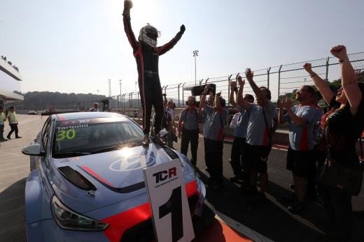i30 N TCR TCR 인터내셔널 데뷔전 우승. /사진=현대차 제공