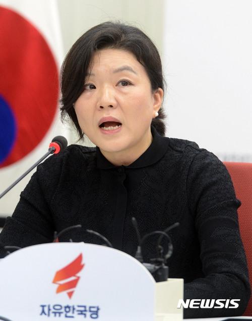 류여해 자유한국당 최고위원이 박근혜 전 대통령 재판에 대한 의견을 밝혔다. /자료사진=뉴시스