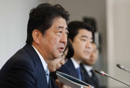 일본 총선. 사진은 아베 신조 일본 총리. /사진=뉴시스