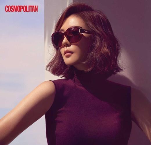 김남주, 블랙 수트+선글라스로 완성한 가을 스타일링