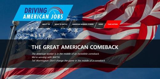 Driving American Jobs 홈페이지.