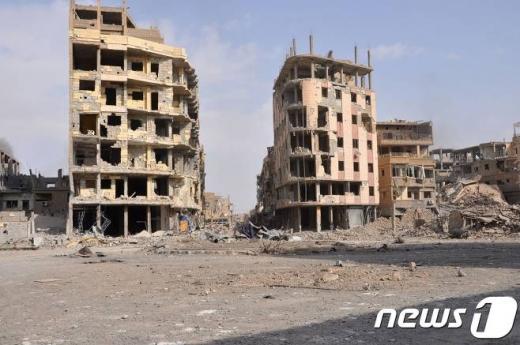 이슬람국가(IS)로부터 탈환에 성공한 데이르에조르 풍경. /사진=뉴스1