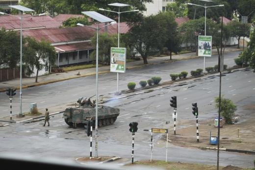 짐바브웨. 사진은 15일(현지시간) 짐바브웨 수도 하라레. /사진=뉴시스(AP 제공)
