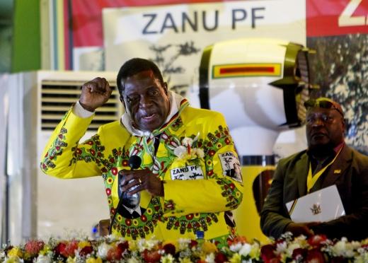 짐바브웨 대통령. 사진은 에머슨 음난가그와 전 짐바브웨 부통령. /사진=뉴시스(AP 제공)