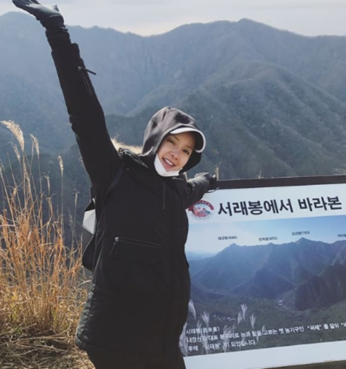 """이시영 근황, 임신 9개월에도 내장산 등산… """"힐링하고 왔어요"""""""