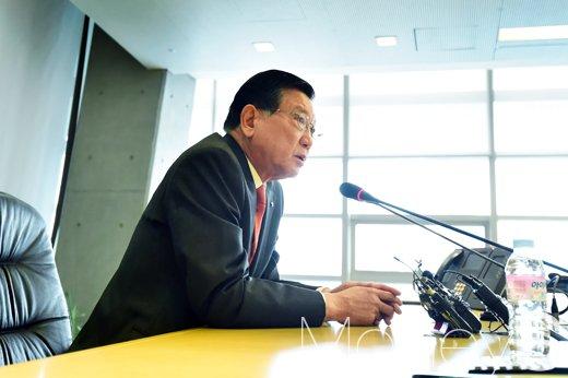 [머니S포토] 박삼구 회장이 밝힌 금호 아시아나그룹 현안