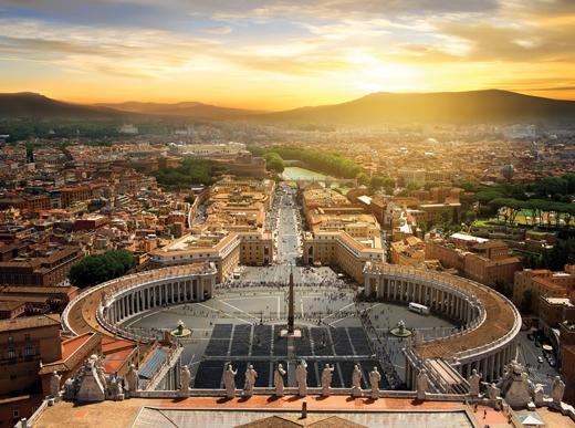 바티칸 성베드로성당에서 바라본 로마시내. /사진=이미지투데이