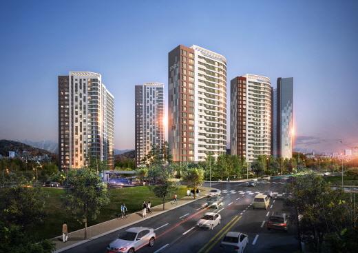 현대산업개발에서 건설하는 아파트 투시도. /사진제공=현대산업개발