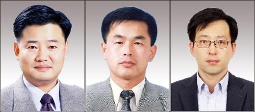 왼쪽부터 광동제약 김영목 상무, 이재육·이채주 이사. /사진=광동제약