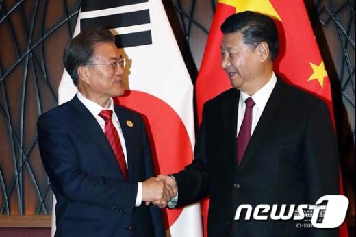 문재인 대통령(좌)과 시진핑 중국 국가주석(우) /사진=뉴스1