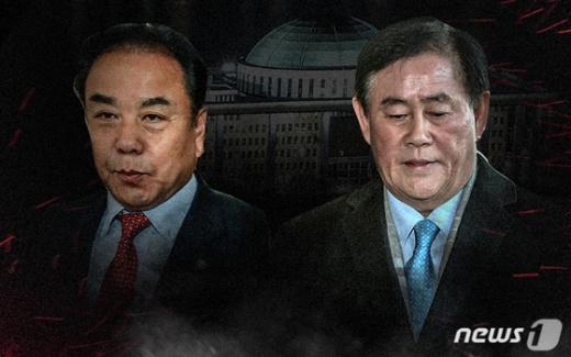최경환(오른쪽) ,이우현 자유한국당 의원 / 사진=뉴스1