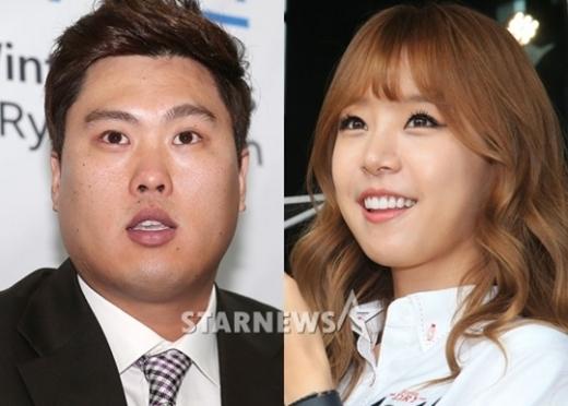 류현진(왼쪽)과 배지현 아나운서/사진=스타뉴스