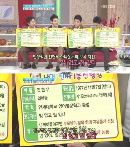 /사진=KBS 2TV '여유만만' 방송화면 캡처.