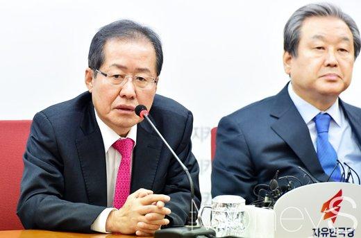 홍준표 자유한국당 대표/사진=임한별 기자