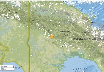 미국지질조사국(USGS)은 26일 오전 3시45분(현지시간) 남태평양 파푸아뉴기니 하일랜드주에서 규모 7.5의 지진이 발생했다고 전했다. 지진은 파푸아뉴기니 포게라에서 남서쪽으로 89㎞ 떨어진 곳에서 발생했으며 진원의 깊이는 35㎞로 관측됐다./사진=뉴시스