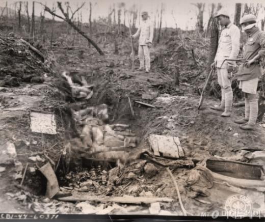 미국 국립문서기록관리청에 소장한 위안분 학살 장면 사진/사진=머니투데이(서울시, 서울대인권센터 제공)