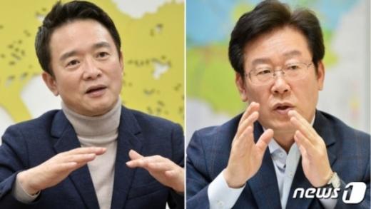 남경필 경기도지사(왼쪽)와 이재명 성남시장. /사진=뉴스1
