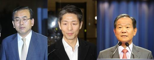 (왼쪽부터) 박영준 전 지식경제부 차관, 이상주 삼성전자 전무, 송정호 청계재단 이사장. /사진=뉴시스DB