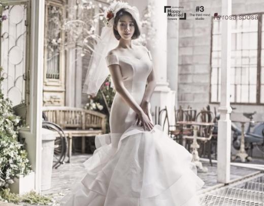 """[★화보] 안소미 결혼, 예비남편은 좋겠다… """"아름다운 4월의 신부"""""""