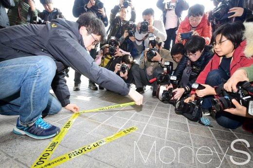 [머니S포토] MB맞이 분주한 서울중앙지검 앞