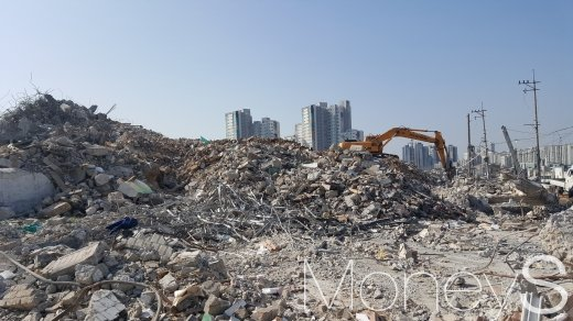 서울 시내 한 재개발 철거현장. /사진=김창성 기자