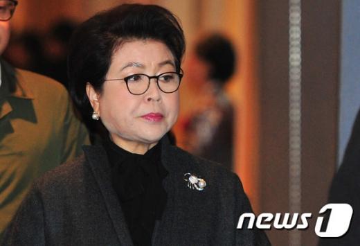 이명박 전 대통령 부인 김윤옥 여사./사진=뉴스1