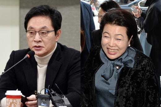 정두언 전 새누리당 의원과 김윤옥 여사./사진=뉴시스