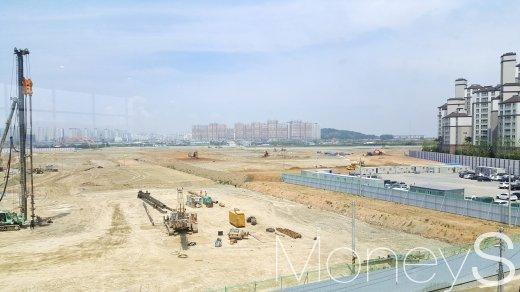 경기 김포의 한 아파트 건설 부지. /사진=김창성 기자