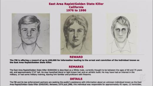 골든스테이트 살인마를 찾는 용의자 전단/사진=뉴욕타임스 캡처