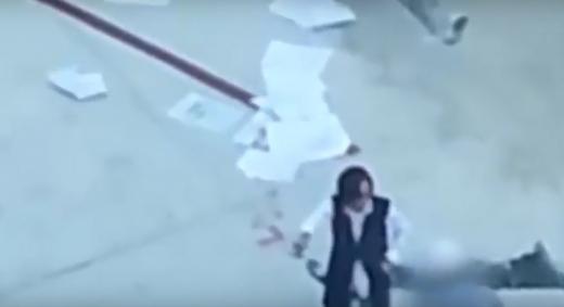 조양호 한진그룹 회장의 부인 이명희 씨로 추정되는 인물의 갑질 영상. /사진=유튜브 캡처
