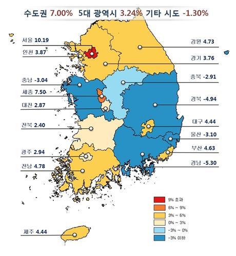 광주·전남, 올해 공동주택가격 각각 2.94·4.47% 상승