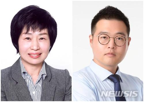 여성장애인 비례 라현(55), 청년 비례 최영환 (34). /사진=뉴시스